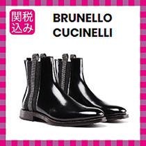 BRUNELLO CUCINELLI Plain Leather Ankle & Booties Boots