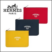HERMES Blended Fabrics Plain Beachwear