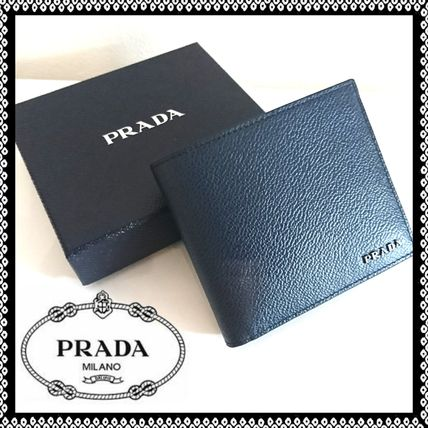 PRADA SAFFIANO LUX Leather Folding Wallet Folding Wallets