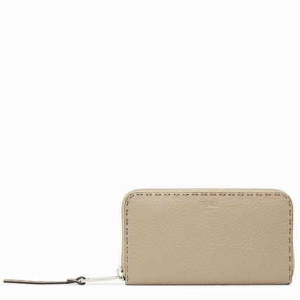 FENDI SELLERIA Calfskin Long Wallet  Logo Long Wallets