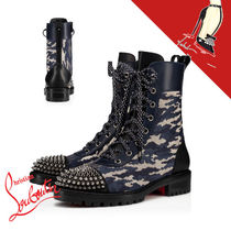 Christian Louboutin Camouflage Rubber Sole Leather Ankle & Booties Boots