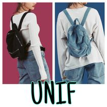 UNIF Clothing Casual Style Unisex Suede Street Style Plain Handmade