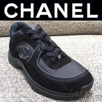 CHANEL SPORTS Plain Toe Casual Style Unisex Suede Blended Fabrics