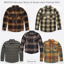 Ron Herman Tartan Unisex Street Style Long Sleeves Cotton Shirts