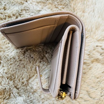 PRADA Folding Wallets Calfskin Plain Folding Wallets 8