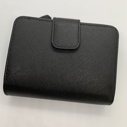 PRADA Folding Wallets Calfskin Plain Folding Wallets 15