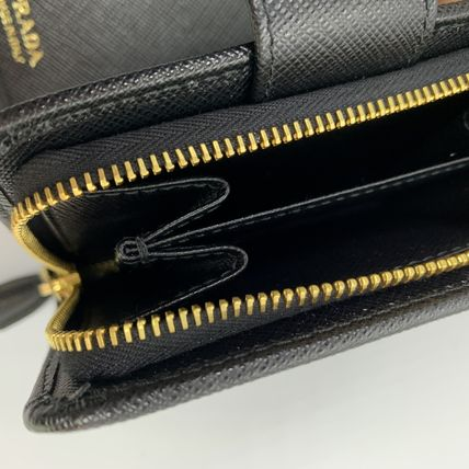 PRADA Folding Wallets Calfskin Plain Folding Wallets 17