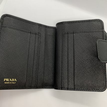 PRADA Folding Wallets Calfskin Plain Folding Wallets 19