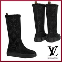 Louis Vuitton MONOGRAM Monogram Platform Rubber Sole Leather Ankle & Booties Boots