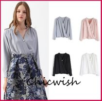 Chicwish Long Sleeves Plain Medium With Jewels Office Style