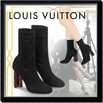 Louis Vuitton MONOGRAM Monogram Leather Block Heels Elegant Style