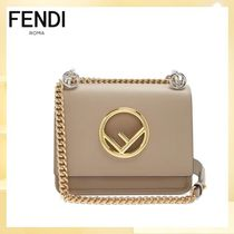 FENDI Casual Style 2WAY Chain Plain Leather Elegant Style