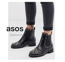 ASOS Casual Style Faux Fur Chelsea Boots Ankle & Booties Boots