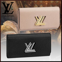 Louis Vuitton EPI Calfskin Plain Leather Long Wallets