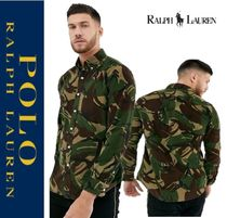 POLO RALPH LAUREN Pullovers Button-down Camouflage Unisex Long Sleeves Shirts