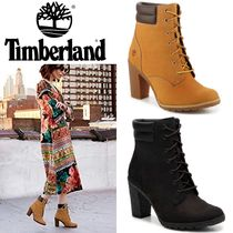 Timberland Round Toe Lace-up Casual Style Blended Fabrics Street Style