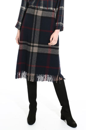 Other Check Patterns Wool Skirts