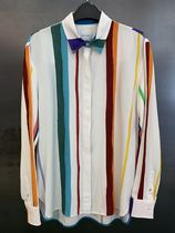Paul Smith Stripes Casual Style Long Sleeves Party Style Office Style