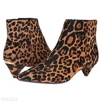 Calvin Klein Leopard Patterns Elegant Style Ankle & Booties Boots