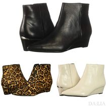 Calvin Klein Leopard Patterns Casual Style Plain Ankle & Booties Boots