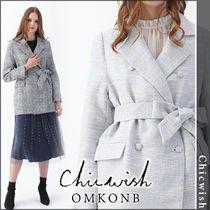 Chicwish Casual Style Tweed Long Jackets