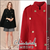 Chicwish Casual Style Plain Medium Coats