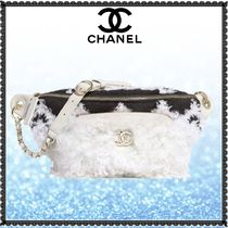 CHANEL 3WAY Bi-color Chain Elegant Style Shearling Logo