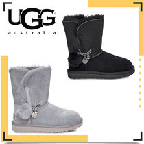 UGG Australia CLASSIC Casual Style Suede Fur Flat Boots