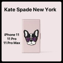 kate spade new york Unisex Plain Other Animal Patterns Leather Smart Phone Cases