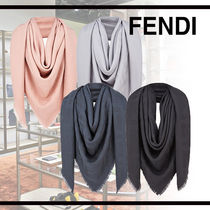 FENDI Wool Cashmere Fringes Accessories