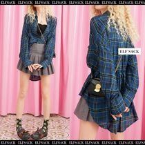 ELF SACK Tartan Other Check Patterns Casual Style Street Style