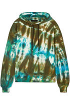 AMIRI Tie-dye Long Sleeves Cotton Oversized Hoodies & Sweatshirts