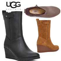 UGG Australia Casual Style Plain Leather Wedge Boots