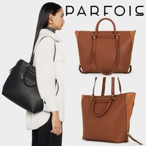 PARFOIS Casual Style A4 2WAY Plain Office Style Totes