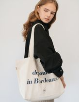 depound Casual Style Unisex Street Style Plain Totes