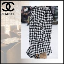CHANEL Casual Style Wool Tweed Long Party Style Elegant Style