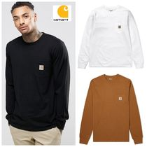 Carhartt Crew Neck Unisex Street Style Long Sleeves Plain Cotton