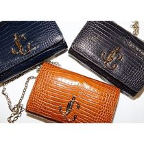 Jimmy Choo 3WAY Other Animal Patterns Leather Party Style Elegant Style