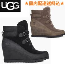 UGG Australia Casual Style Suede Plain Wedge Boots