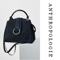 Anthropologie Casual Style Suede 2WAY Plain Office Style Handbags