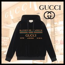 GUCCI Long Sleeves Cotton Oversized Hoodies & Sweatshirts