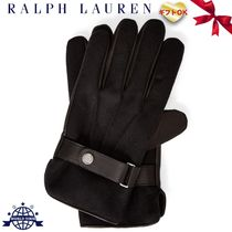 Ralph Lauren Wool Plain Leather Leather & Faux Leather Gloves