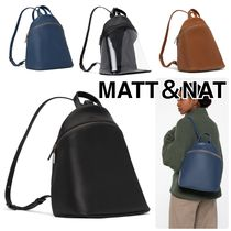 MATT&NAT Casual Style Plain Backpacks