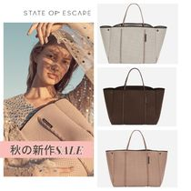 State of Escape Casual Style Unisex Blended Fabrics A4 2WAY Office Style