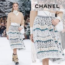CHANEL Cashmere Medium Midi Skirts