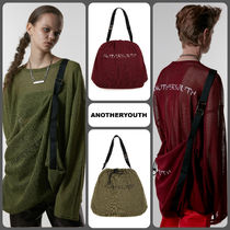 ANOTHERYOUTH Casual Style Unisex Plain Oversized Bags