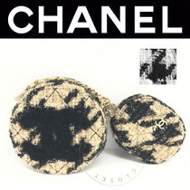 CHANEL ICON Zigzag Casual Style Blended Fabrics Chain Plain Handmade