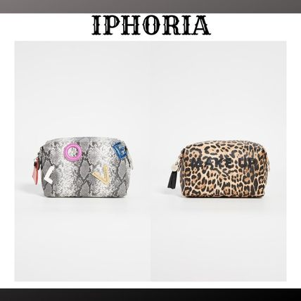 Faux Fur Other Animal Patterns Pouches & Cosmetic Bags