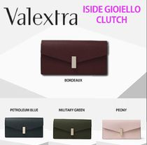 Valextra Iside Calfskin 2WAY Chain Plain Party Style Elegant Style Clutches