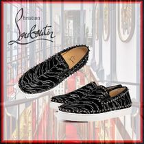 Christian Louboutin PIK BOAT Fur Street Style Other Animal Patterns Loafers & Slip-ons